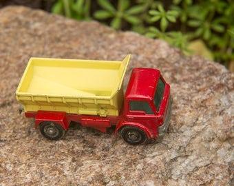 Matchbox No. 70, Grit Spreader Truck, 1970 vintage, yellow body