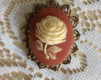 1 vintage rose brooch