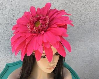 Show Stopper! Large Pink Flower Fascinator