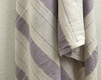 Unbleached Organic Turkish Towel Bath Towel Untreated Natural Chemical Free Cotton Towel Large Towel Monogrammed Towel Purple Towel