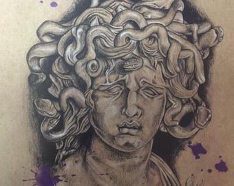 Medusa ~ 8.5x11in Print
