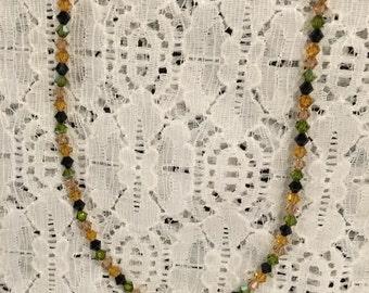 Swarovski Earth Tones Crystal Bead Necklace