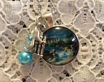Cinderella Charm Necklace/Cinderella Necklace/Cinderella Pendant/Disney Princess Jewelry/Disney Princess Necklace/Cinderella Charm Pendant