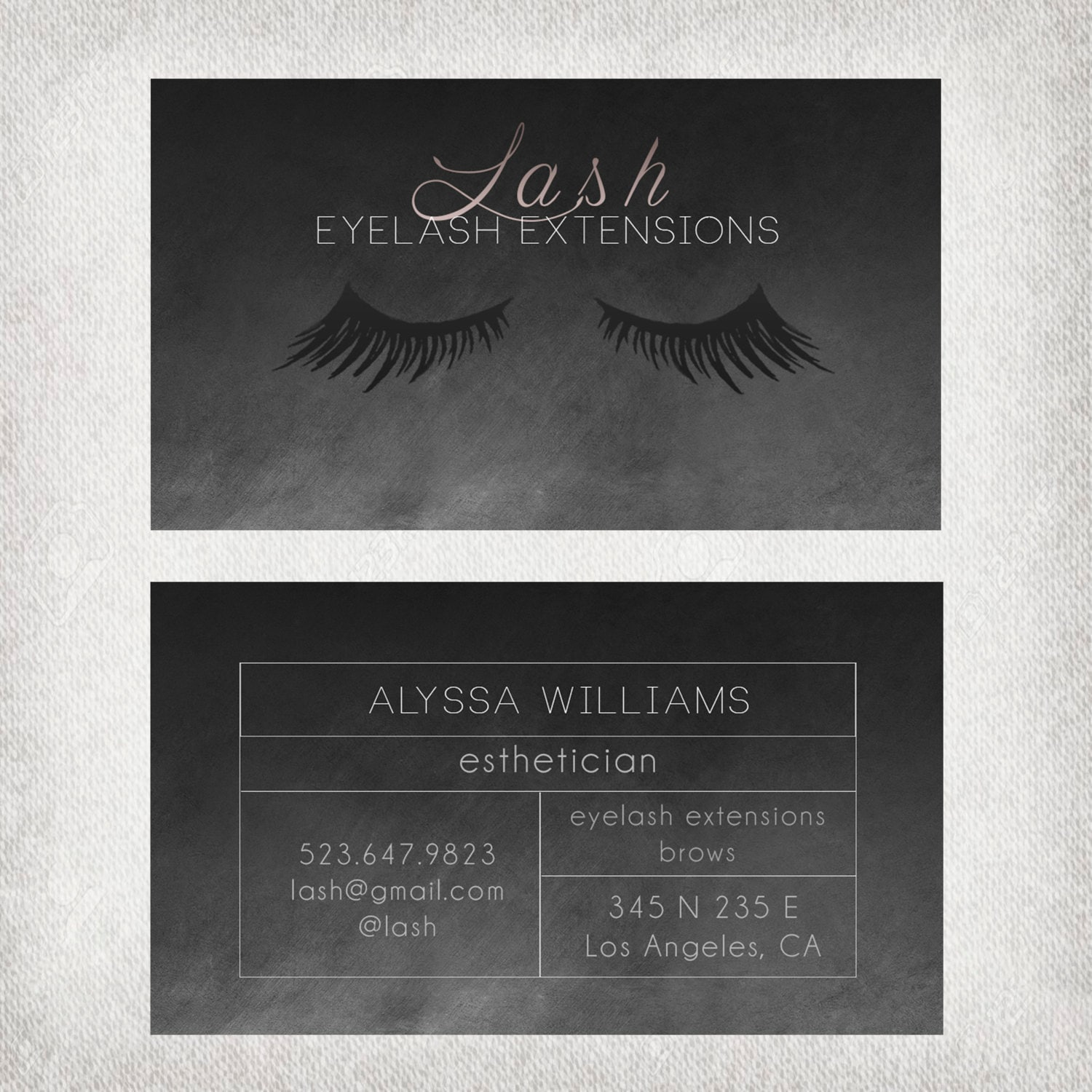 Eyelash extensions business card design file only zoom magicingreecefo Image collections
