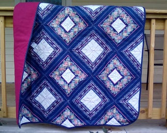 Navy Blue Lap Quilt
