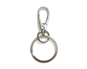 Key Rings with Swivel Lobster Claw Clasps • Key Chain • 70mm • 2pcs • CP_024_NK
