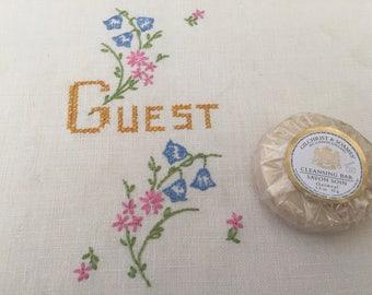 Vintage Embroidered Guest Towel