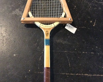 Vintage Sears Roebuck and Co. Wooden Tennis Racquet