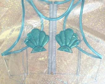MERMAID GLITTERATI PVC Top