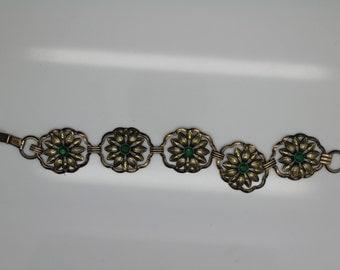 VINTAGE ART DECO 1/20 12KT Gold Filled Sterling Silver Bracelet