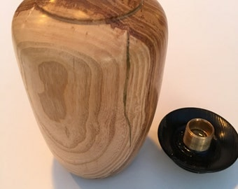 Ash Woodturned ,Pet Urn