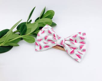 Baby Girl Bow Headband - Nylon Headbands - Hair clip - Infant / Toddler /  Fabric Hair Bows / Clips - fruit / watermelon bow