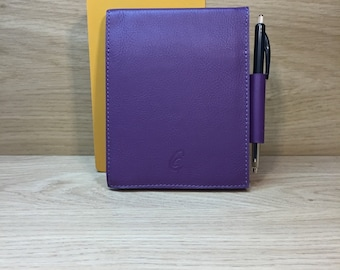 Dark purple leather notebook