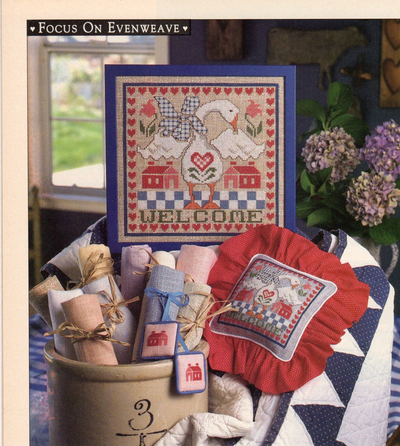 Cross stitch country crafts magazine back issues - Cross Stitch Country Crafts Issue Jan Feb93 Sold By Kryssyscraftstash 1 50