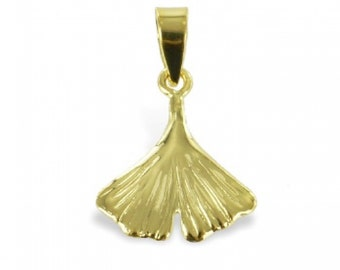 Ginkgo Leaf Pendant (8ct yellow gold/0.25grams)
