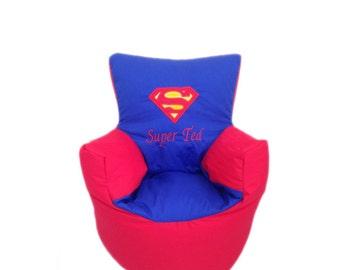 Personalised Superman Toddler Bean Bag Chair