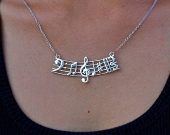 "Series ""I Love Music"", Pentagram with of musical symbols"
