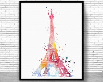 Eiffel Tower Print, Eiffel Tower Decor eiffel tower art, paris art, paris print, Watercolor Decor, paris wall art, ArtPrintZone