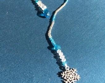 Snowflake Beaded Bookmark