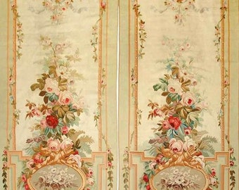 "1:12 Regina Collection Door or Wall Panels in Woven Wallpaper 6"" X 6.14"" inches (set of two)"