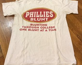 Phillies Blunt Authentic Vintage T Shirt 1990s College Blunts