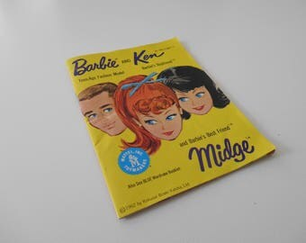 Barbie Teen-age Fashion Model and Ken Barbie's Boy Friend and Midge Barbie's best Friend (yellow cover) Phamplet/Booklet/Catalog