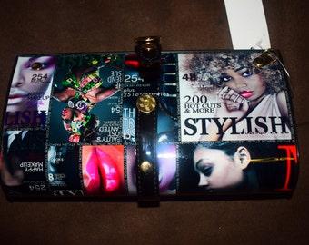 magazine clutch bag/wallet