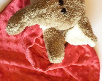 Children's Lovey - Children Blankie - Elephant Blankie - Elephant Blanket - Elephant Lovey - Kid's Lovey - Kids Blankie - Baby Blanket