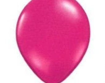28cm Jewel Magenta Latex balloon