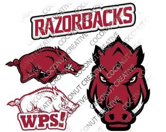 Razorbacks University of Arkansas Hogs Wooo Pig Sooie svg dfx jpg jpeg eps layered cut cutting files cricut silhouette die cut decal vinyl