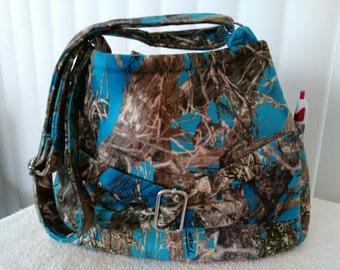 Handmade Blue Camo Bag