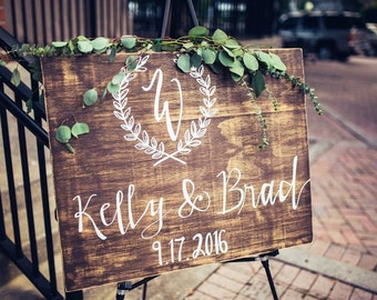 Custom Wood Wedding Welcome Sign