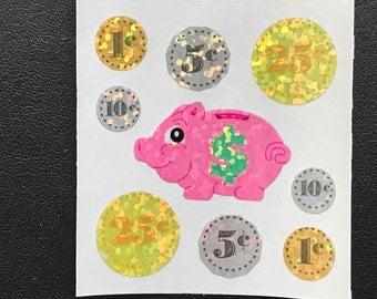 Sandylion Stickers, Scrapbooking, Coins, Coin, Money, Piggy Bank   (1 mod)