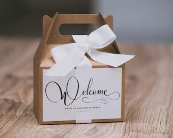 kraft gift box personalized Bachelorette-brindal shower favor box
