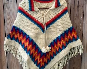 Vintage handmade poncho