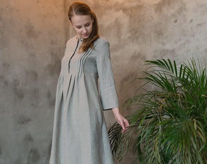 Linen dress, Dark natural linen dress, Boho dress, Dark natural boho dress, Linen boho dress, Oversize dress, Oversize linen dress, Tunic