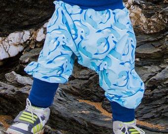 Scalable child harem pants Blue Dolphin