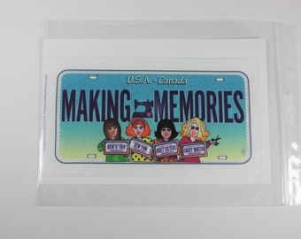 Making Memories fabric license plate for row by row and other quilt projects