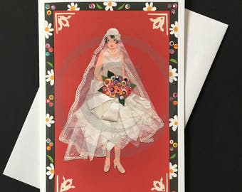 Wedding Card- Vintage Bride