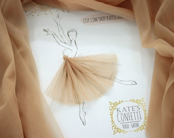 9 Autumn Gold Tulle Fabric, Tulle Material Wholesale, Soft Luxury Wedding Dress Tulle Fabric Tutus, Fabric For Tutu, Diy Tutu - 3m width