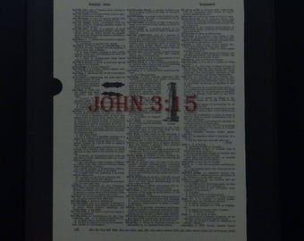 John 3:15, Bible Verse, Christian Art, Christian Home Decor, Bible Verse Wall Art, Scripture Verse, Christian Gift