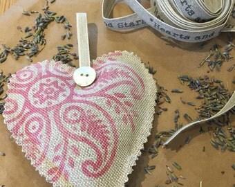 Handmade lavender heart.
