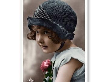 Personalised Handmade Greetings Card ~ Vintage Postcard of A Child  #26