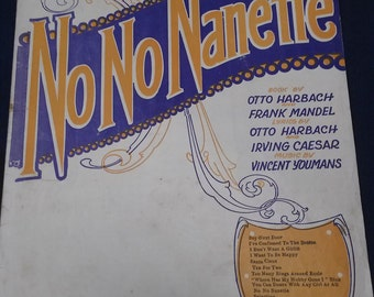 "No No Nanette Sheet Music-""I Want To Be Happy"""