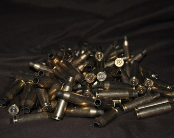 once fired .243 100 pieces brass  dirty