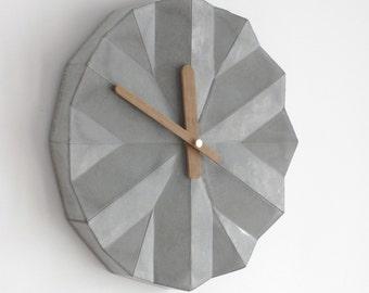 Geometric Concrete  Clock