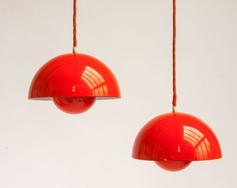 Werner Panton Flower Pot Pendants