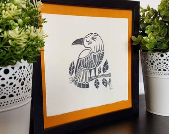 Folkloric Bird Print