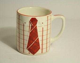 Vintage Shirt and Tie Mug