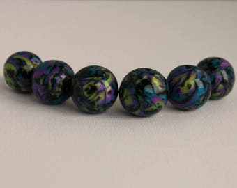 Polymer Clay Beads - Metallic Colors